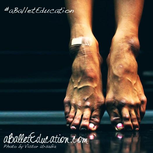 a ballet education feet