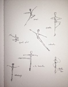 male ballet drawing