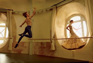 Natalia Vodianova, Benjamin Millepied and the Paris Opera Ballet photographed by Annie Leibovitz for VOGUE.