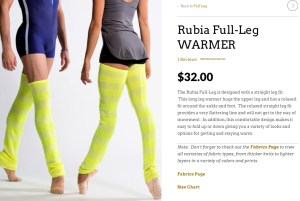 Rubia Dancewear by Boston Ballet Principal Dancer Ashley Ellis. (moderately priced for custom pieces)