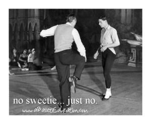 No sweetie Ballet Fail