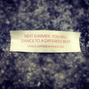 Fortune cookies are the best.