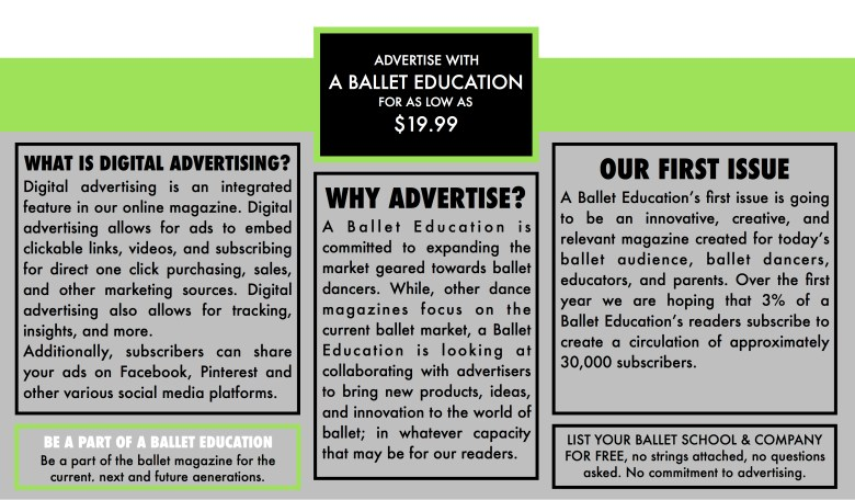 Why Advertise with a Ballet Education