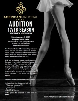 ANB AUDITION Maryland Youth Ballet