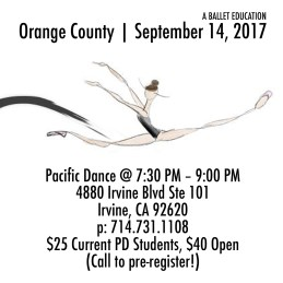 a ballet education orange county