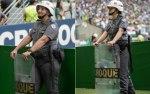 Depois do trabalho nos portões, os policiais são realocados. Algumas mulheres foram para o setor 1, o campo. Foto: Luis Augusto Ambar Fonte: Delas - iG @ http://delas.ig.com.br/comportamento/2016-12-01/mulher-batalhao-choque.html