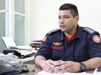 Capitão Carvalho, atual responsável pelo comando do 3° Comando Regional de Bombeiros