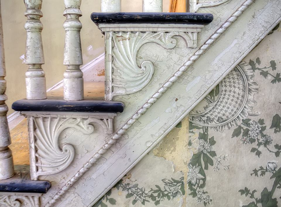 Staircase detail, Dr. Oliver Bronson House - Photo by Andy Milford