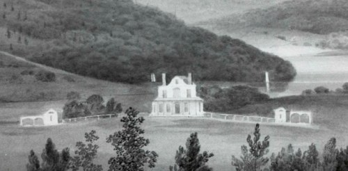 Detail of watercolor by William Guy Wall, circa 1819, collection of the New York Historical Society