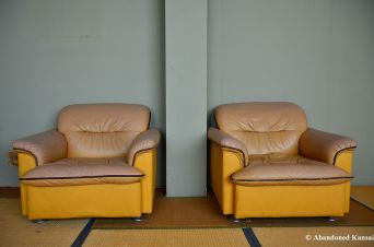 Abandoned Leather Armchairs