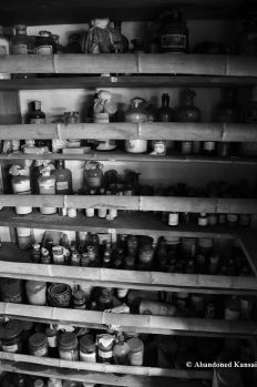 Old Bottles Filled With Chemicals