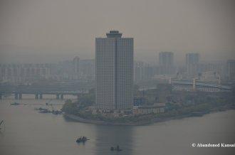 Yanggakdo International Hotel From Juche Tower