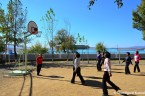 North Korean Girls Playing Basketball