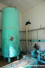 Turquoise Oil Tank