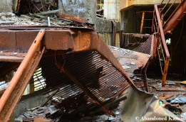 Partly Collapsed Metal Staircase