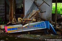 Abandoned Sega Pair Match Hockey Machine