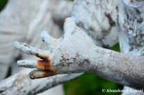 Crippled White Statue Hands