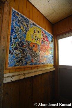 Wall Mosaic At An Abandoned School