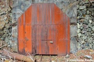 Rusty Locked And Welded Shut Mine Entrance Door
