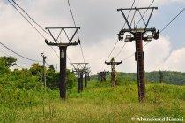 Abandoned Ski Lifts On Mount Ibuki