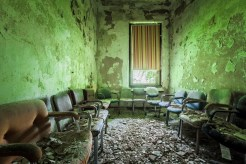 The chairs in this room were undoubtedly arranged by a previous visitor.
