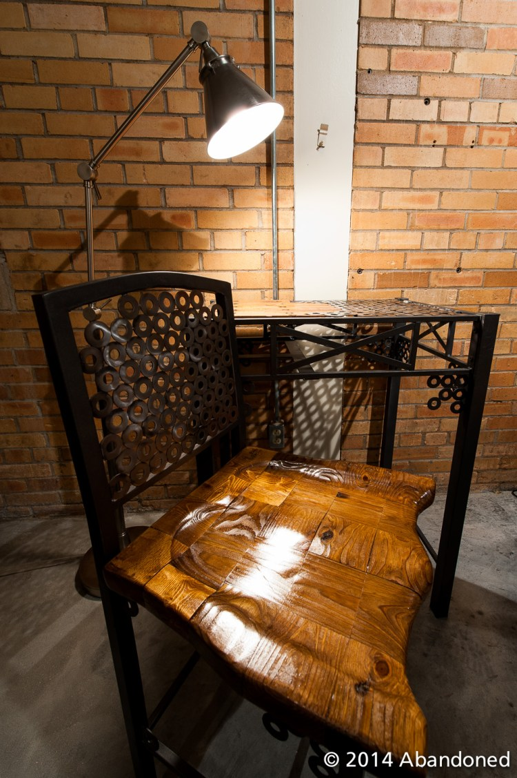 Handcrafted Salvaged Metal Chair and Table