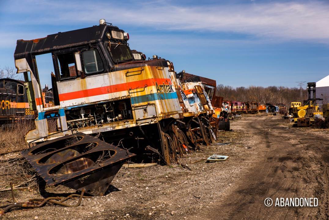 Abandoned Amtrak EMD F40PH cabs