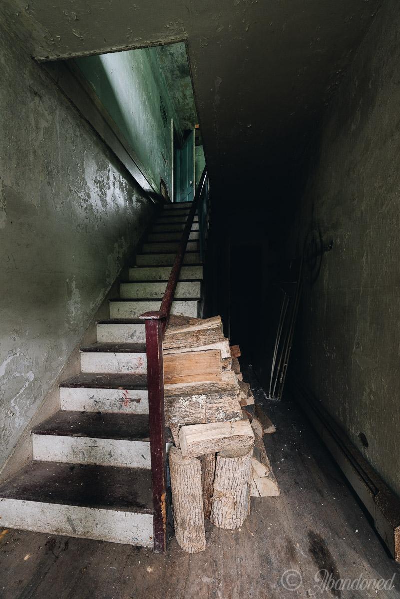 Abandoned Dutchess County House Foyer