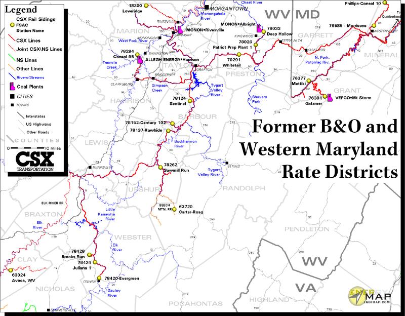 2003 CSX System Map