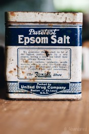 Vintage Epsom Salt Tin