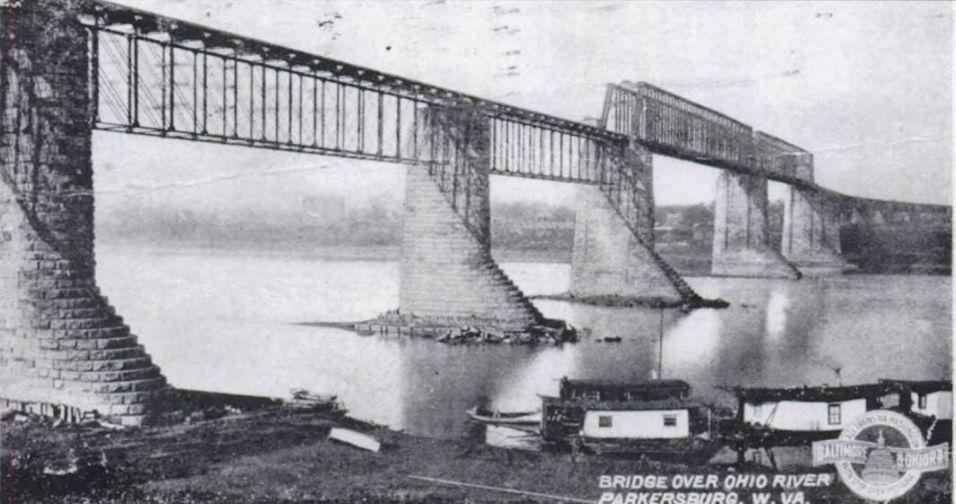 Marietta & Cincinnati Railroad Bridge over Ohio River