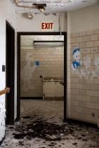 Hallway with Cartoon Character Murals