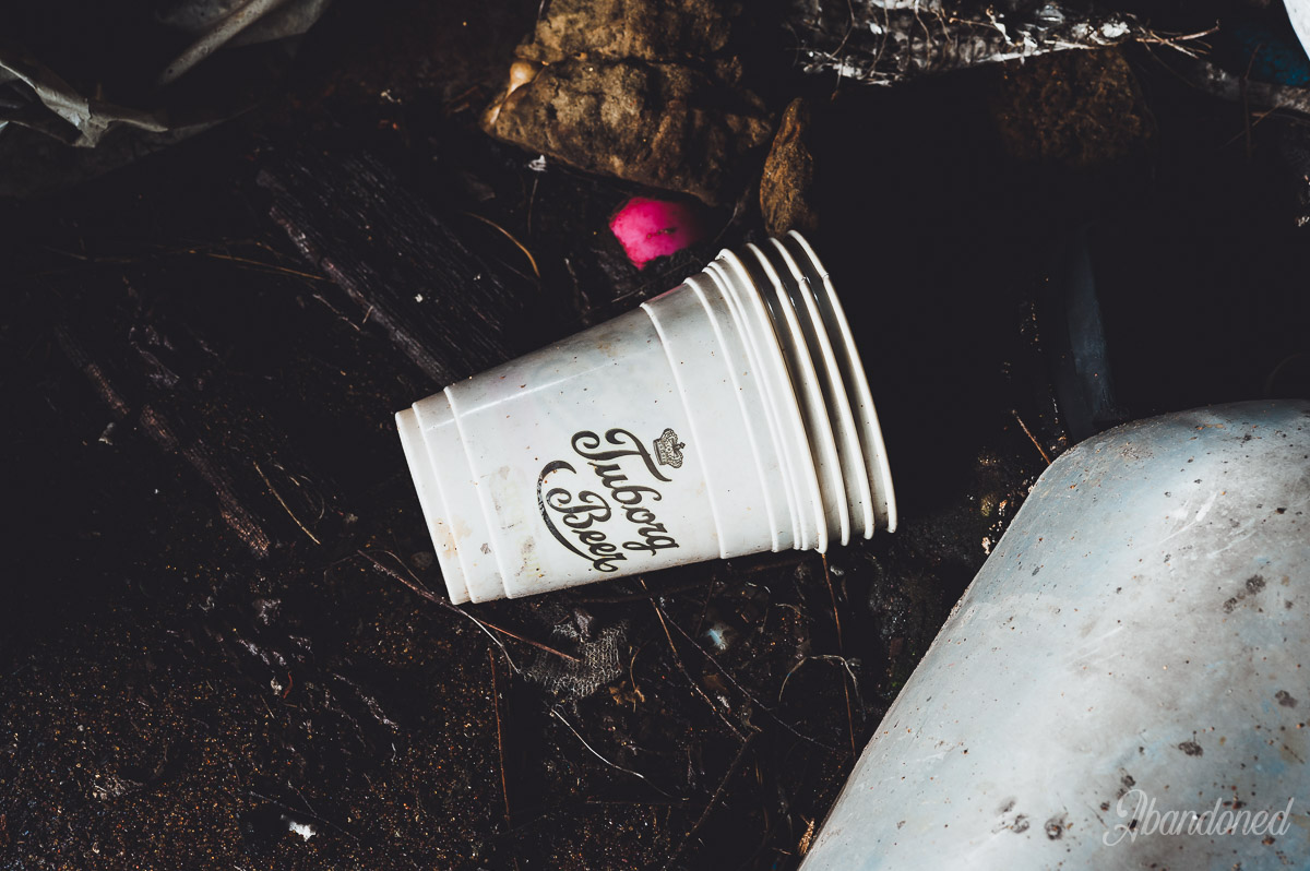 Hudepohl Brewing Company Discarded Cup