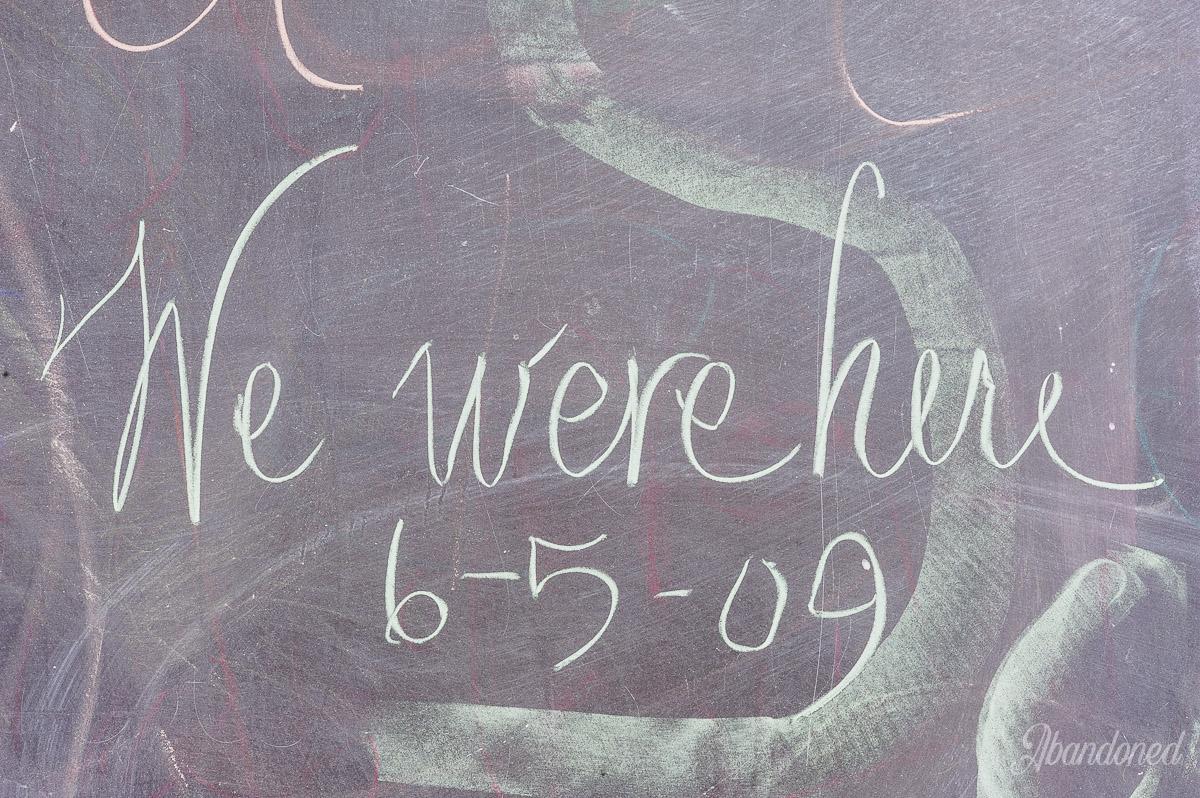 Fairview School Chalkboard