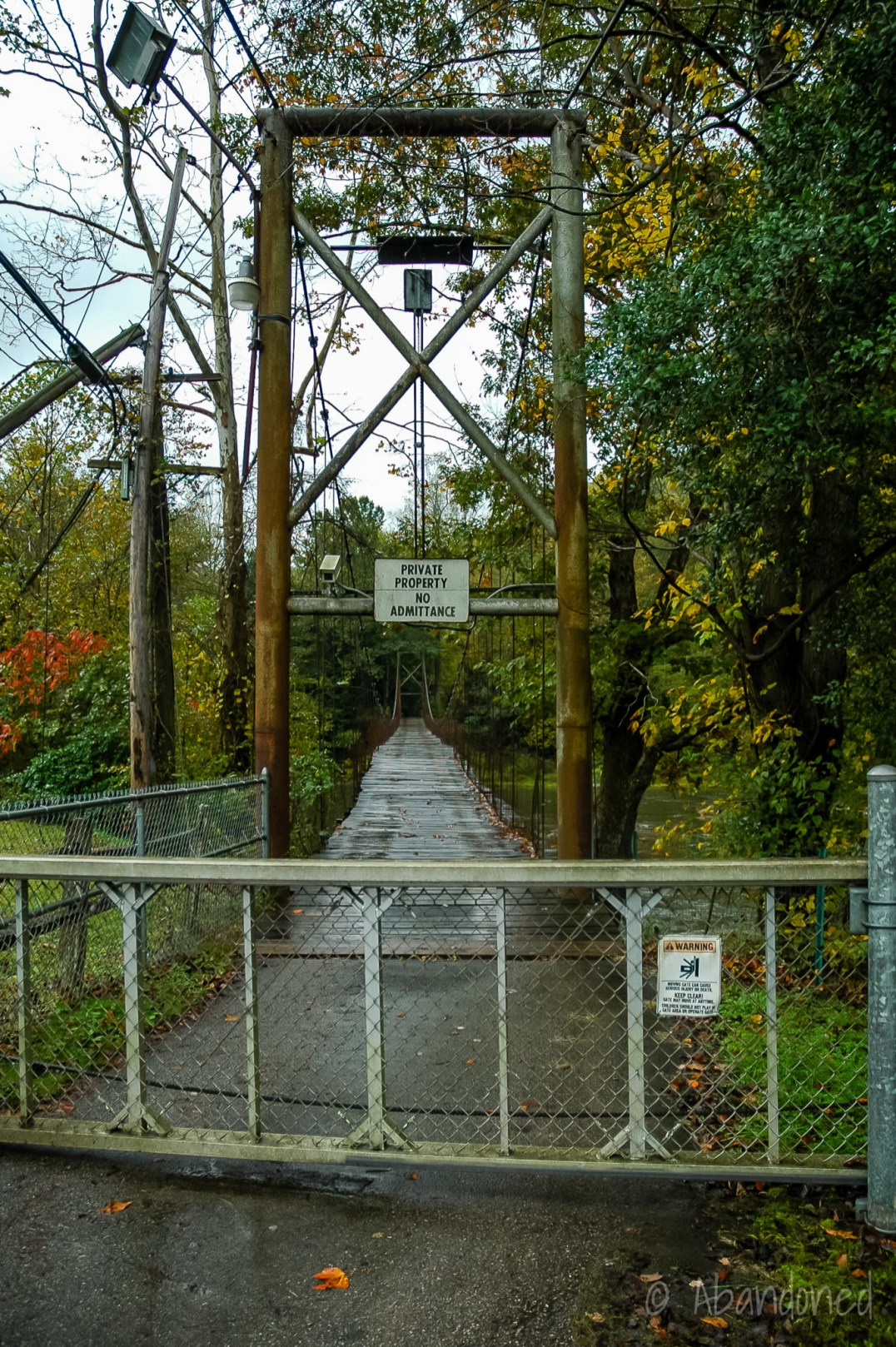 Abandoned Suspension Bridge