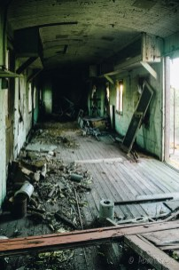 Abandoned Caboose Interior
