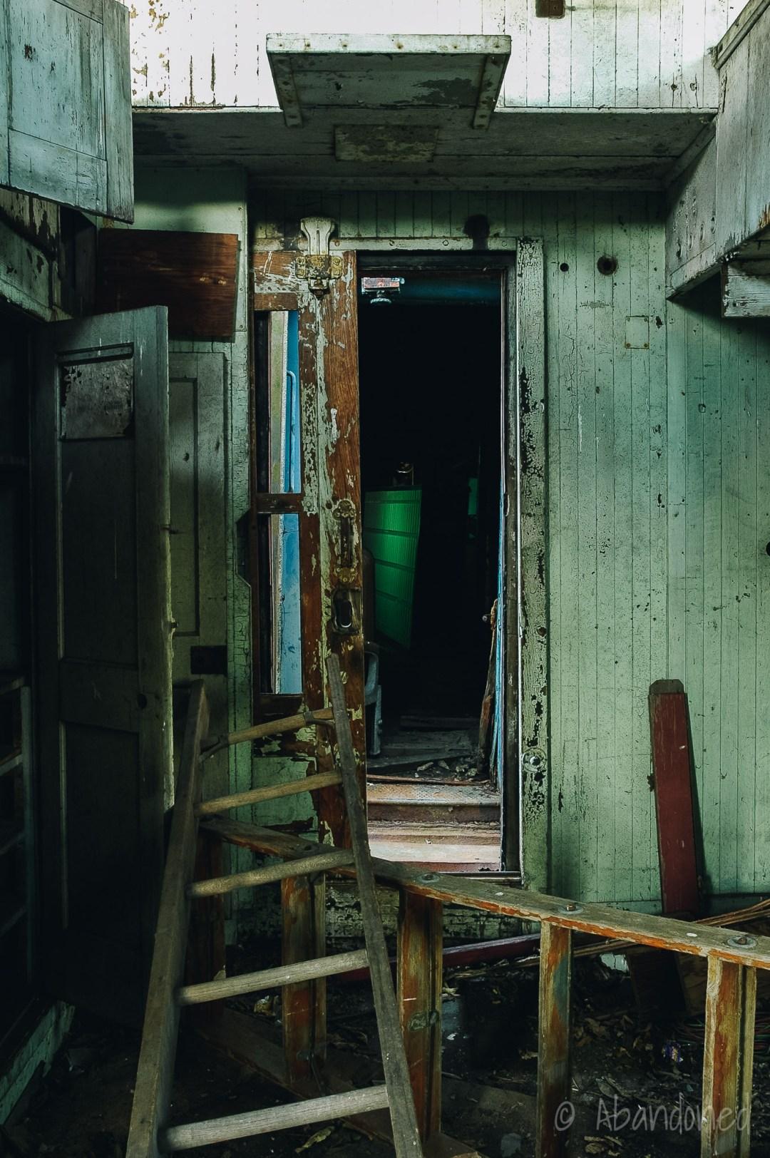 Abandoned Caboose Interior