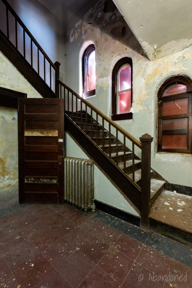 Medfield State Hospital Lee Chapel Stairwell