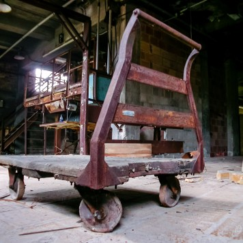 Fostoria Glass Push Cart