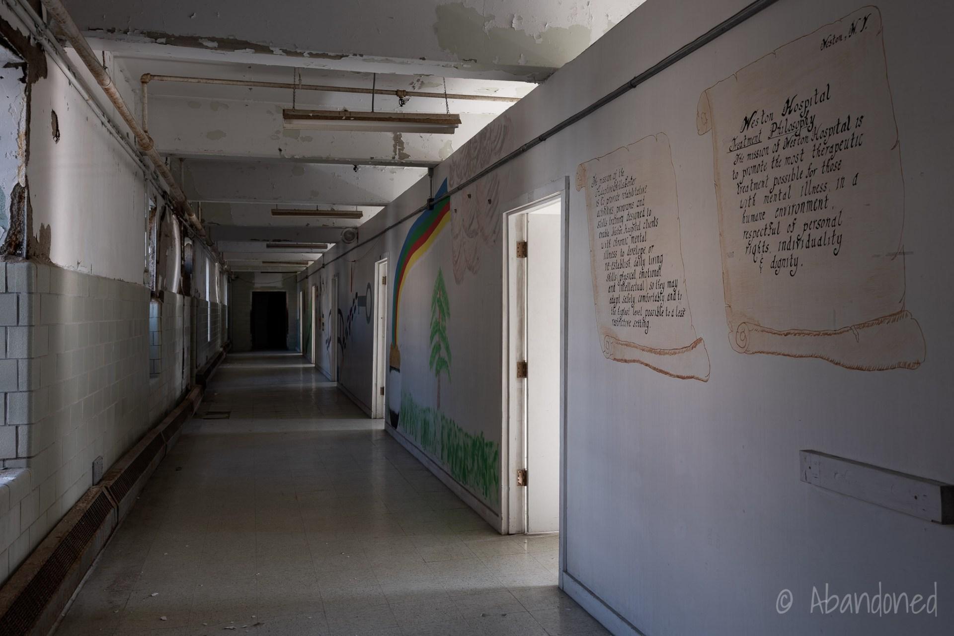 Trans-Allegheny Lunatic Asylum Ward Hallway with Mural