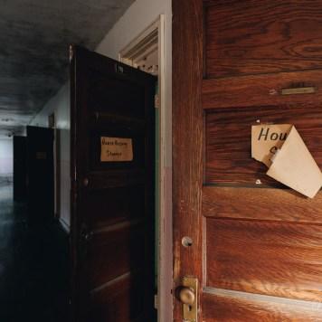 Trans-Allegheny Lunatic Asylum Ward Hallway with Original Wood Doors