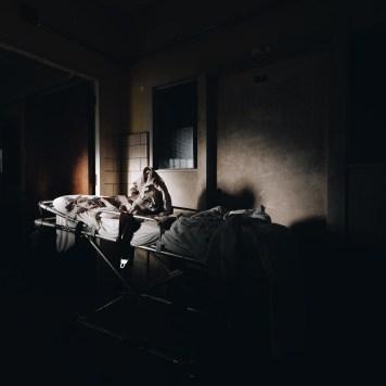 Trans-Allegheny Lunatic Asylum Darkened Room with Gurney