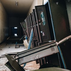 Mt. Sterling High School Hallway with Lockers