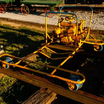 Maintenance of Way equipment on display at the Bluegrass Railroad Museum in Versailles.