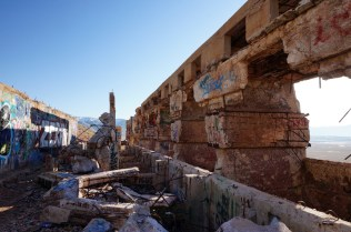 Rubble in the middle of the Tintic Standard Reduction Mill
