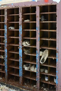 Shoe Rack in Gym