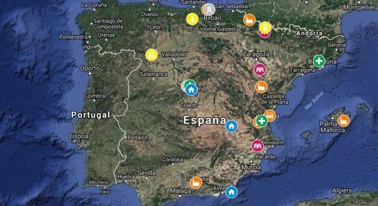 Mapa Lugares Abandonados Madrid Valencia Barcelona Bilbao Sevilla Gailicia Abandoned Spain España Urbex