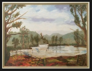 I painted this landscape in oils when I was 10 – I was interested in the arts from an early age.