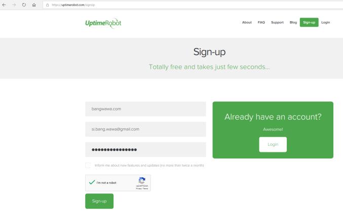Cara Monitoring Uptime Situs Kita