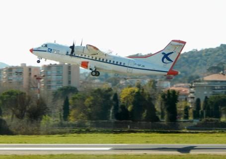 ATR42 taking off